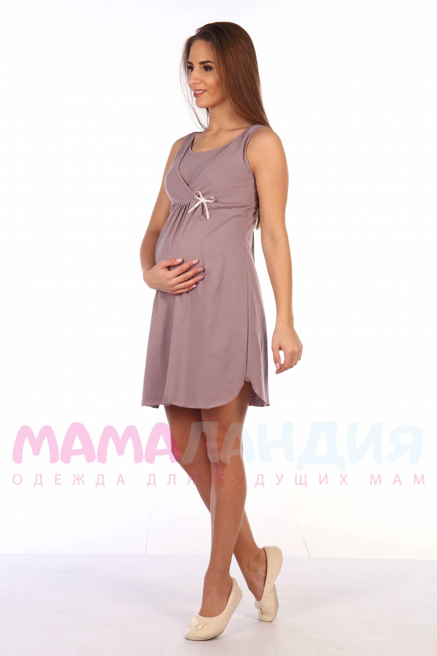 99efa1ebef06 Купить С208 Сорочка для беременных и кормящих КОРИЧНЕВЫЙ по цене 790 ...
